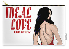 Carry-all Pouch featuring the digital art Ideal Love Book Cover by Jayvon Thomas