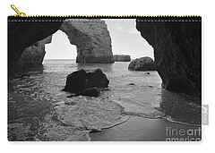 Idyllic Cave In Monochrome Carry-all Pouch by Angelo DeVal