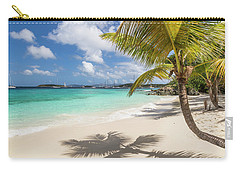 Carry-all Pouch featuring the photograph Idyllic Salomon Beach by Adam Romanowicz