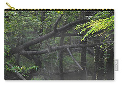 Carry-all Pouch featuring the photograph If A Tree Falls In The Woods by Skip Willits
