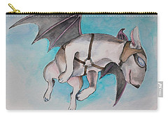 Carry-all Pouch featuring the painting If Pigs Could Fly by Jindra Noewi