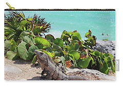 Iguana At Tulum Carry-all Pouch by Roupen  Baker