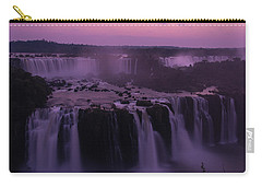 Iguazu Sunset In Violet Carry-all Pouch by Alex Lapidus