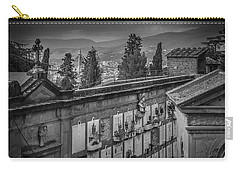Carry-all Pouch featuring the photograph Il Cimitero E Il Duomo by Sonny Marcyan