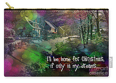 Carry-all Pouch featuring the digital art I'll Be Home Card 2016 by Kathryn Strick