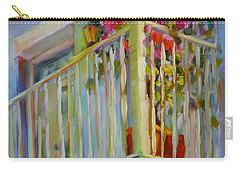Carry-all Pouch featuring the painting I'll Leave The Porch Light On by Chris Brandley