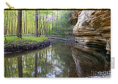 Illinois Canyon In Spring Carry-all Pouch by Paula Guttilla