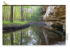 Illinois Canyon In Spring Starved Rock State Park Carry-all Pouch