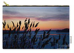 Illinois River Winter Sunset  Carry-all Pouch