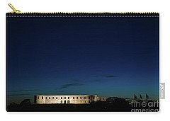 Carry-all Pouch featuring the photograph Illuminated Castle Ruin by Kennerth and Birgitta Kullman