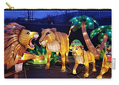 Illuminated Lion Family Carry-all Pouch
