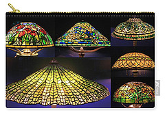 Illuminated Tiffany Lamps - A Collage Carry-all Pouch
