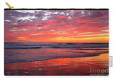 Carry-all Pouch featuring the photograph North County Waves by John F Tsumas
