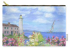 Illustrated Lighthouse By Summer Garden Carry-all Pouch