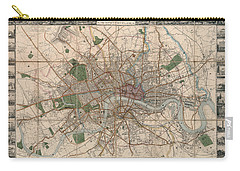 Illustrated Plan Of London And Its Environs - Map Of London - Historic Map - Antique Map Of London Carry-all Pouch