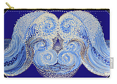 Carry-all Pouch featuring the painting I'm A Drop In The Blue Wave. Join Me by Kym Nicolas