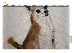 Rusty Being A Good Boy Carry-all Pouch by Barbie Batson