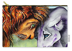 Carry-all Pouch featuring the painting I'm In Love With You by Maria Barry