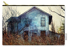 Carry-all Pouch featuring the photograph I'm Not Home Right Now, Please Leave A Message - Abandoned Farmhouse by Janine Riley