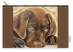 I'm Sorry - Chocolate Lab Puppy Carry-all Pouch