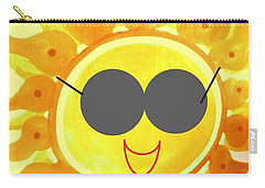 Carry-all Pouch featuring the painting I'm Too Hot For My Shades by Denise Fulmer