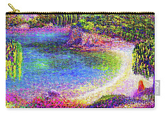Imagine, Meditating In Beautiful Bay,seascape Carry-all Pouch