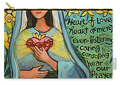 Immaculate Heart Of Mary Carry-all Pouch