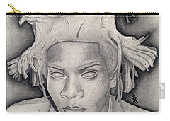 Immortalizing In Stone Jean Michel Basquiat Drawing Carry-all Pouch