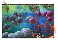 Carry-all Pouch featuring the photograph Immune Response Antibody 4 by Russell Kightley