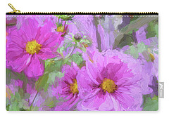 Impasto Cosmos Carry-all Pouch by Bonnie Bruno