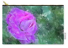 Impasto Rose Carry-all Pouch by Aliceann Carlton