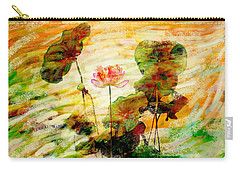 Impression In Lotus Tree Carry-all Pouch