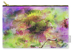 Impression Sunflower Carry-all Pouch by Geraldine DeBoer