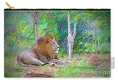 Carry-all Pouch featuring the painting  Impressionable Lion by Judy Kay