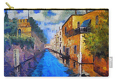 Impressionist D'art At The Canal Carry-all Pouch