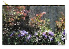 Carry-all Pouch featuring the photograph Impressionist Garden Pano by Ellen O'Reilly