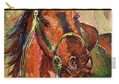 Impressionist Horse Carry-all Pouch by Janet Garcia