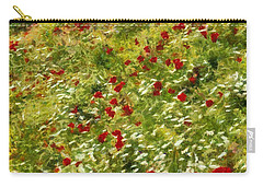 Impressionist Poppies Carry-all Pouch