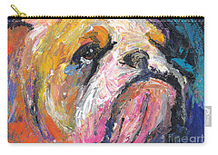 Impressionistic Bulldog Painting Carry-all Pouch