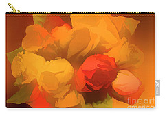 Impressionistic Gold Rose Bouquet Carry-all Pouch