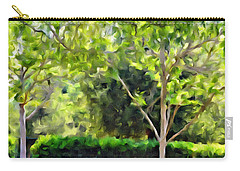 Impressions From A Park - One Carry-all Pouch by Glenn McCarthy Art