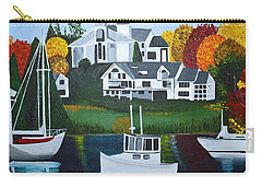 Carry-all Pouch featuring the painting Impressions Of New England Two by Donna Blossom