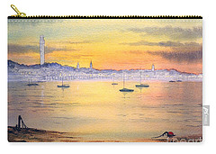 Carry-all Pouch featuring the painting Impressions Of Provincetown by Bill Holkham