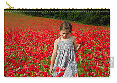 In A Sea Of Poppies Carry-all Pouch by Keith Armstrong