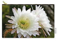 Carry-all Pouch featuring the photograph Cactus Blossoms by Melanie Alexandra Price