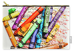 In Colours Of Broken Crayons Carry-all Pouch