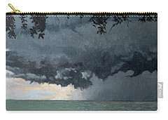 In Coming Storm-epping Forest On The Lake Carry-all Pouch