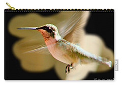 Carry-all Pouch featuring the photograph In Flight by Barbara S Nickerson
