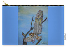 In Flight Barn Owl Carry-all Pouch