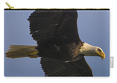 Carry-all Pouch featuring the photograph In Flight by Gary Lengyel